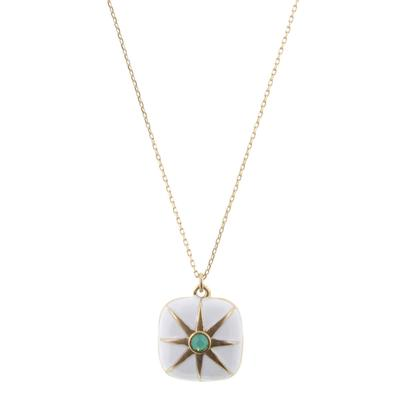 Jane Marie Women's White Square Star Necklace