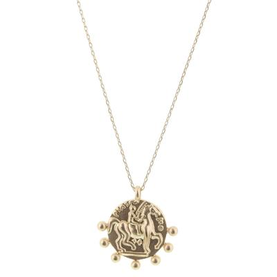Jane Marie Women's Gold Horse Coin Necklace
