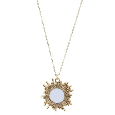 Jane Marie Women's Gold and White Sunburst Necklace