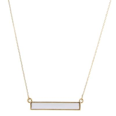 Jane Marie Women's Gold and White Bar Necklace