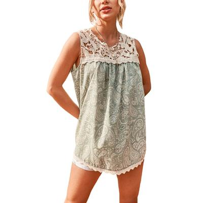 Women's Paisley Lace Tank Top