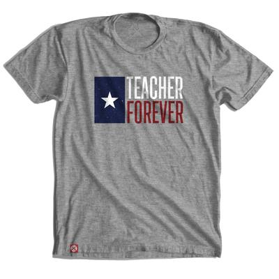Tumbleweed Texstyles Men's Teacher Forever Flag Crew Neck