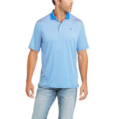 Ariat Men's Blue Micro Stripe Polo