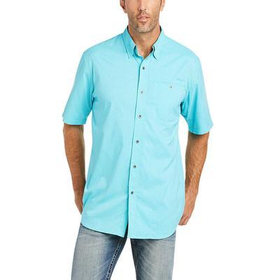 Ariat Men's Aqua Check Venttek Drift Classic Fit Shirt