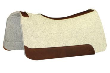3/4 Contoured Wool Barrel Saddle Pad