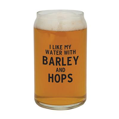 Barley And Hops Beer Can Glass