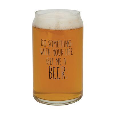 Get Me A Beer Beer Can Glass