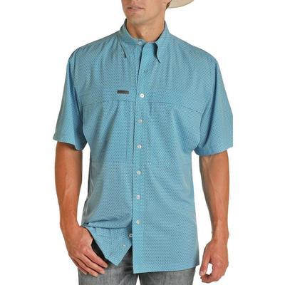 Panhandle Men's Turquoise Performance Fishing Shirt
