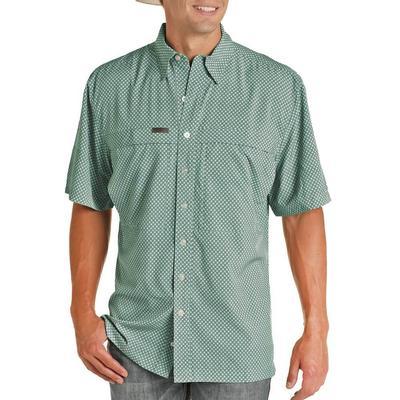 Panhandle Men's Jade Turquoise Performance Fishing Shirt
