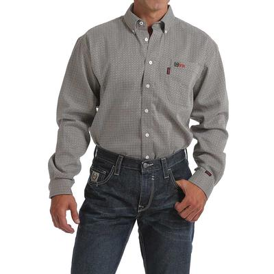 Cinch Men's Geometric Tan Fire Resistant Shirt