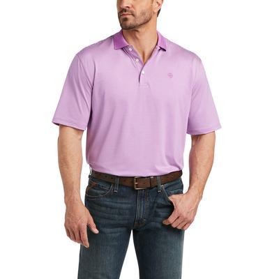 Ariat Men's Micro Violet Stripe Polo