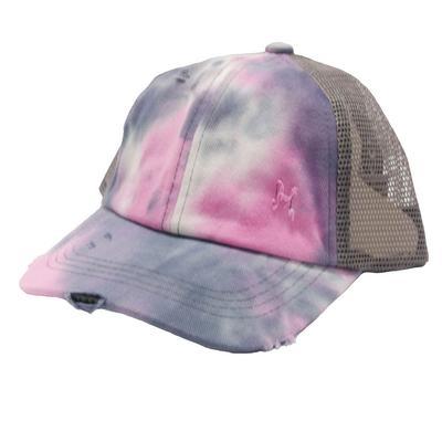 Girl's Tie Dye Ponytail Cap