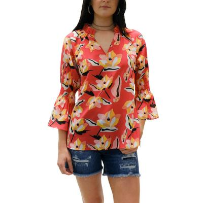 Jade Women's Coral Orchid Top