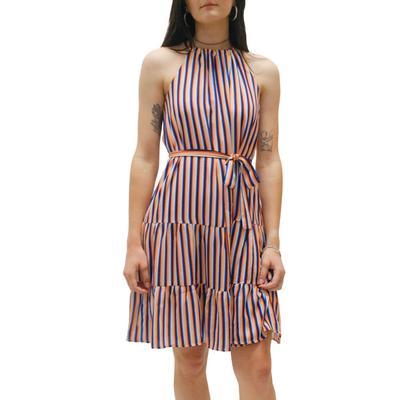 Jade Women's Halter Top Striped Dress