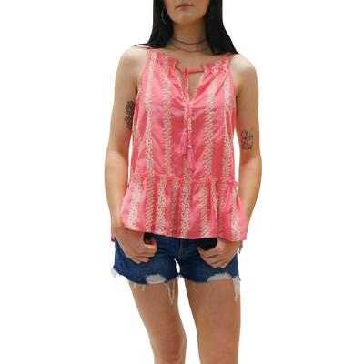 Joy Joy Women's Pink Striped Fashion Top