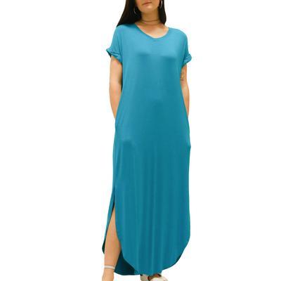 Women's Jade V-Neck Maxi Dress