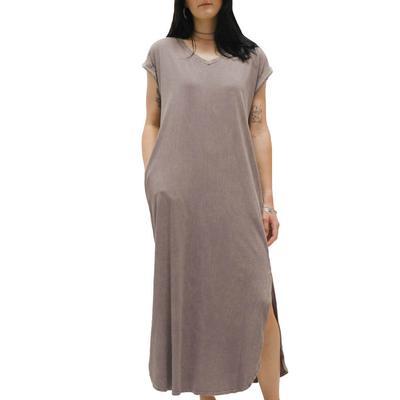 Women's Mineral Wash Maxi Dress
