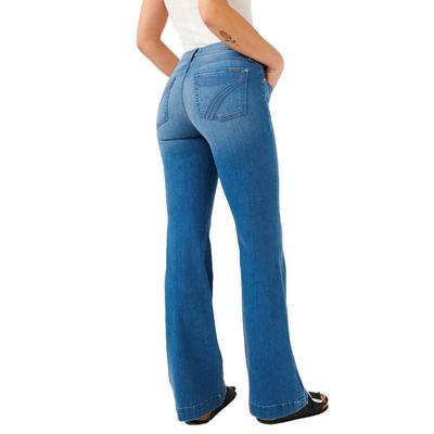 7 For All Mankind Women's Dojo Surf Blue Trouser Jeans