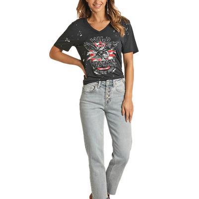 Rock&Roll Women's Wild and Western T-Shirt