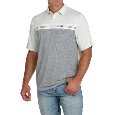 Cinch Men's Arenaflex Gray Scale Polo