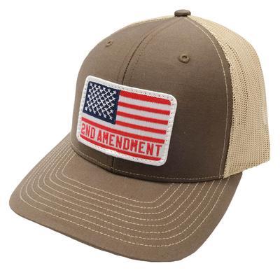 Dally-Up Men's American Flag 2nd Amendment Cap