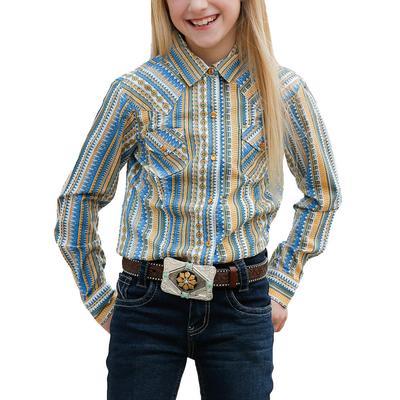 Cruel Girl Stripped Snap Up Shirt