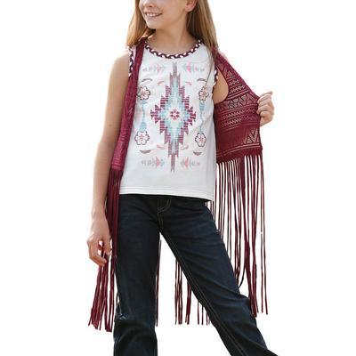 Cruel Girl Maroon Lace Vest