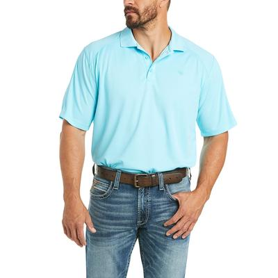 Ariat Men's Short Sleeve Aqua Ac Polo