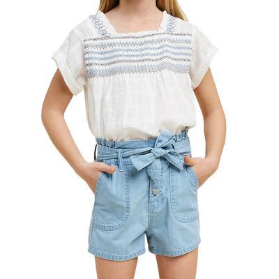 Hayden Girl's High Rise Paperbag Shorts