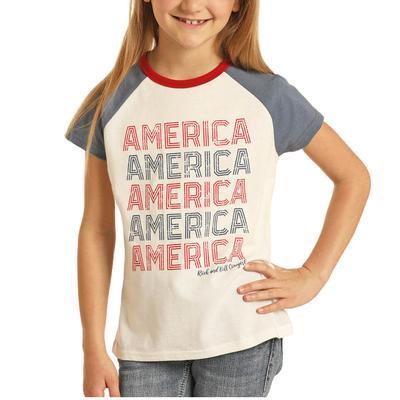 Panhandle Girl's America Graphic T-Shirt