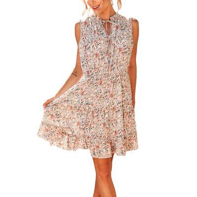 Women's Floral Ruffle Dress