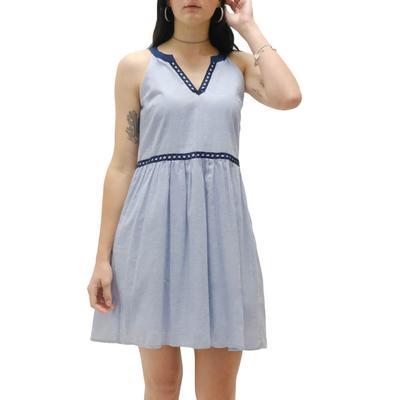 Women's A-Line Dress With Trim