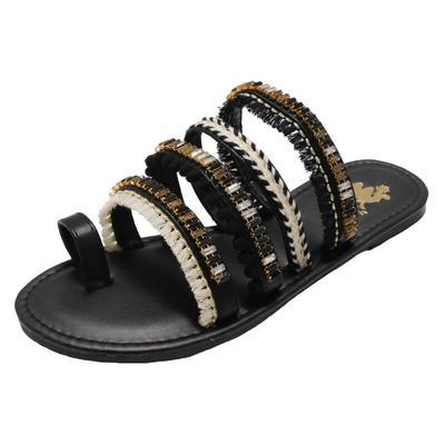 Women's Boho Camel Strappy Sandals