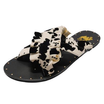Women's Lola Cow Ruffle Strap Sandals
