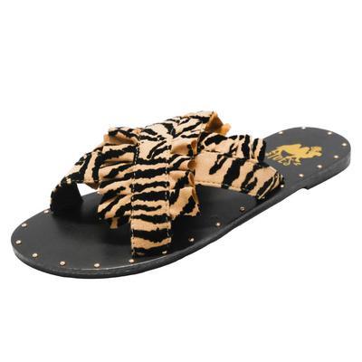 Women's Lola Zebra Ruffle Strap Sandals