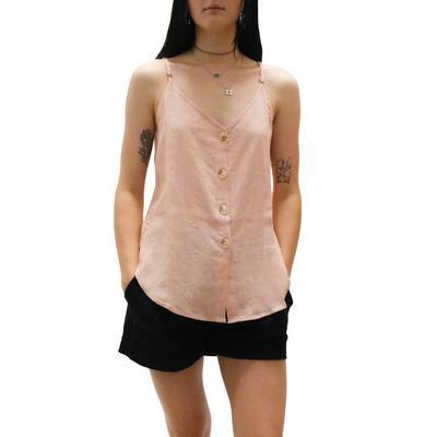 Women's Coconut Button Down Cami Top