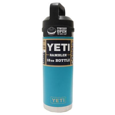 Yeti Rambler 18 OZ Bottle With Chug Cap AQUIFERBLUE