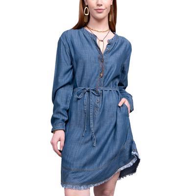 Ivy Jane Women's Denim Tencel Shirt Dress
