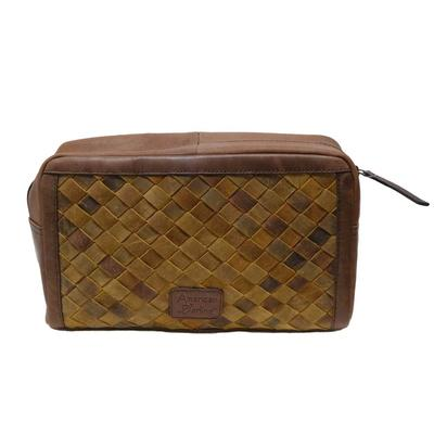 American Darling Leather Knit Toiletry Bag