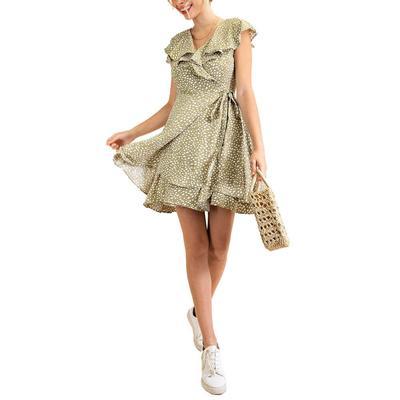 Kori Women's Animal Print Wrap Dress