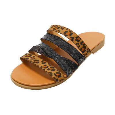 Women's Leopard Strappy Sandals
