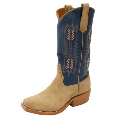 Rios of Mercedes Men's Tan Crazy Horse Western Boots