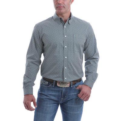 Cinch Men's Basic Geometric Modern Fit Button Down