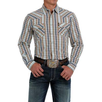 Cinch Men's Modern Fit Western Plaid Snap Shirt