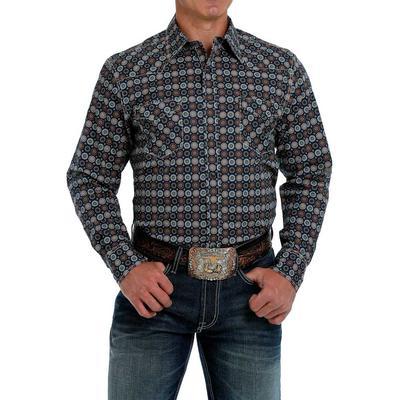Cinch Men's Modern Fit Navy Snap Shirt