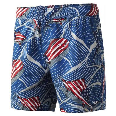 Huk Men's Playa Ew Print Swim Trunks