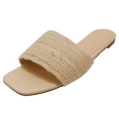 Women's Tan Woven Sandals