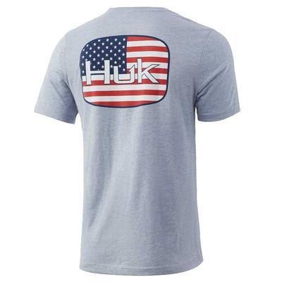 Huk Men's American Badge Tee