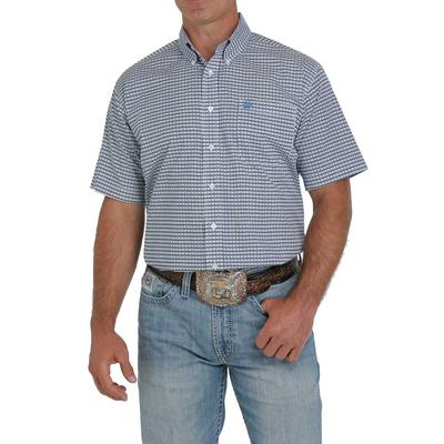 Cinch Men's Plain Weave Print Short Sleeve Button Down