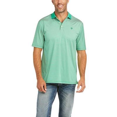 Ariat Men's Green Micro Stripe Polo